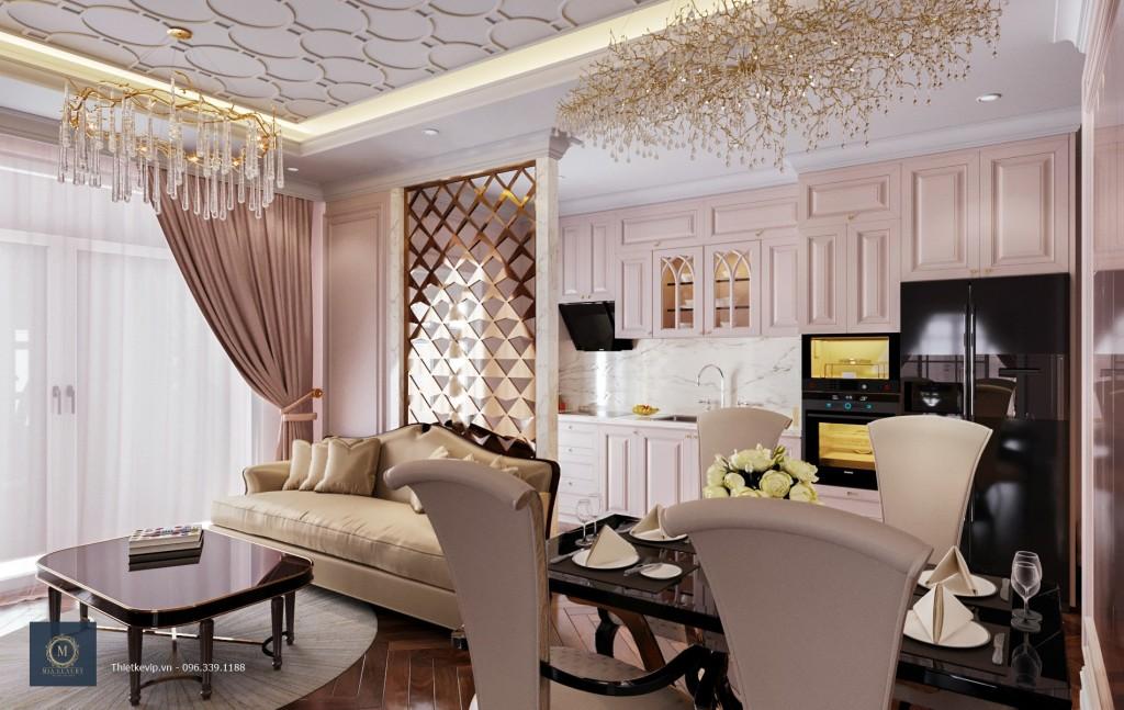 Màu sắc hài hòa, nhẹ nhàng của căn hộ hiện đại